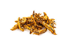 Fried Anchovy Royalty Free Stock Photography