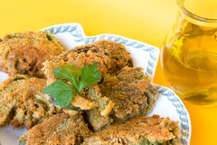Fried Artichokes - Closeup Royalty Free Stock Photos