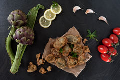 Fried Artichokes Top View Royalty Free Stock Photo