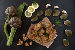 Fried Artichokes Royalty Free Stock Photos