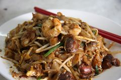 Fried asian noodles Stock Image