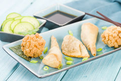 Fried Asian Snacks Fotos de archivo libres de regalías