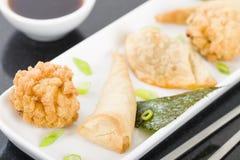 Fried Asian Snacks Imagen de archivo libre de regalías