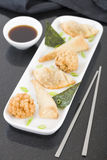 Fried Asian Snacks Imagen de archivo