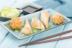 Fried Asian Snacks Stock Photos