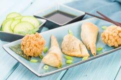 Fried Asian Snacks Royalty Free Stock Photos