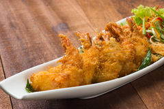 Fried asian style butter prawn royalty free stock photography
