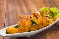 Fried asian style butter prawn stock photography