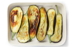 Fried aubergines Royalty Free Stock Photography