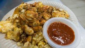 Fried Baby Oyster Omelette Lizenzfreie Stockfotografie
