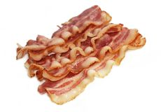 Fried Bacon  Royalty Free Stock Image