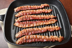 Fried bacon Stock Photography