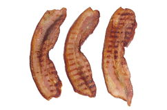 Fried bacon rashers Royalty Free Stock Images