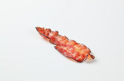 Fried bacon strip Stock Photography