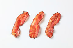 Fried bacon strips Royalty Free Stock Photos