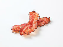 Fried bacon strips Royalty Free Stock Image
