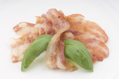 Fried bacon strips Stock Image