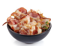 Fried bacon strips Royalty Free Stock Photo