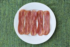 Fried bacon Royalty Free Stock Images