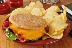 Fried Baloney Sandwich Royalty Free Stock Image