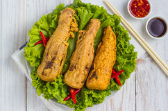 Fried bamboo shoots Royalty Free Stock Photography