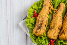Fried bamboo shoots Stock Images