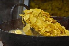 Fried banana chips Stock Photography