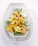Fried Banana Chips met honing Stock Afbeeldingen