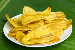 Fried banana chips. Stock Photography