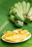 Fried banana chips. Stock Photo