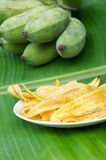 Fried banana chips. Stock Photography