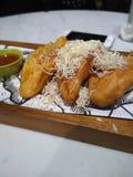 Fried Banana Pisang Goreng mit Käse Stockbilder
