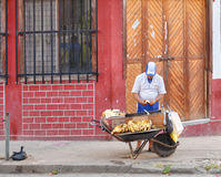 Fried banana seller Royalty Free Stock Photography