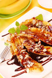 Fried bananas Stock Images