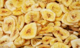Fried bananas background Stock Photography