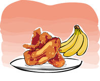 Fried bananas Stock Image