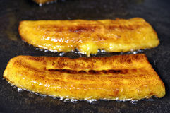 Fried bananas Royalty Free Stock Photos