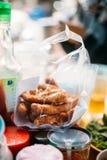 Fried Bananas in Plastic Bag at Vientiane, Laos Stock Photos