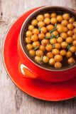 Fried batter pearls Royalty Free Stock Photos