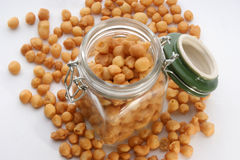 Fried batter pearls in a jar Royalty Free Stock Photos