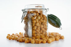Fried batter pearls in a jar Stock Photos