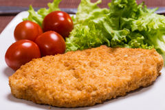 Fried battered chicken breast Royalty Free Stock Images