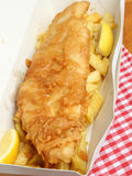 Fried Battered Fish & Chips Royalty Free Stock Images