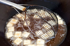 Fried bean curd Royalty Free Stock Images