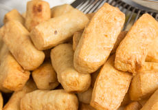 Fried bean curd , Vegetarian food Royalty Free Stock Image