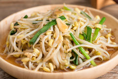 Fried bean sprouts. Vegetarian food. Stock Photos
