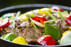 Fried beef with bell pepper Stock Image