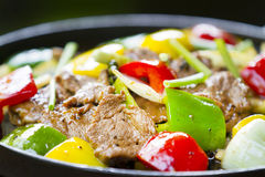 Fried beef with bell pepper Stock Photography