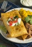 Fried Beef Chimichanga Burrito profundo fotografía de archivo