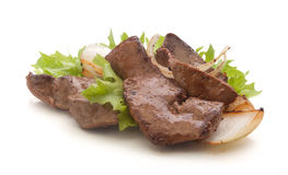 Fried beef liver Stock Images